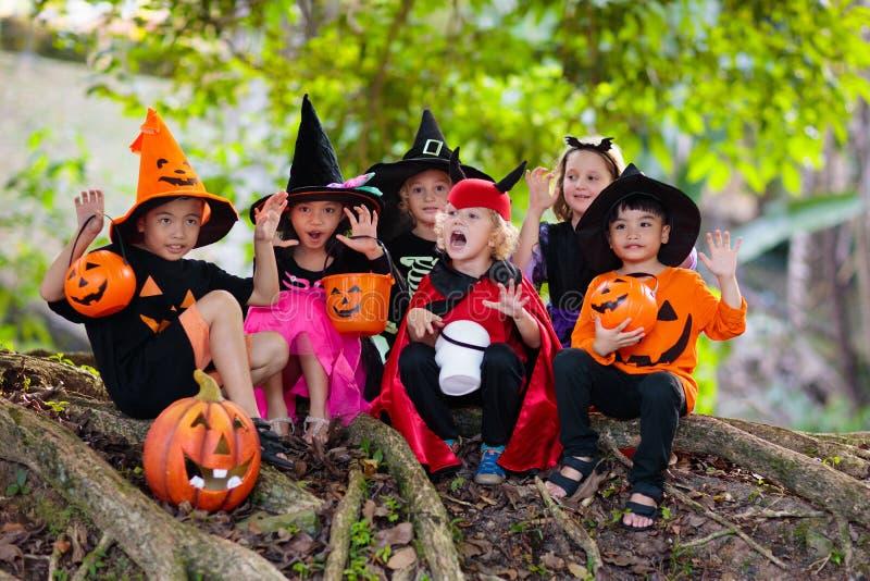 Kids trick or treat. Halloween fun for children stock image