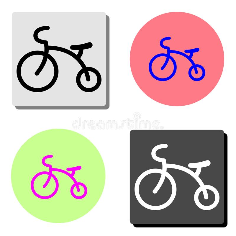 Kids Tricycle. flat vector icon vector illustration