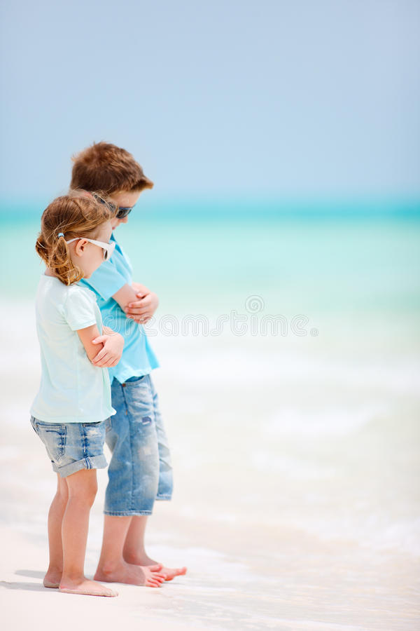 Download Kids at tropical beach stock photo. Image of people, playful - 27374678