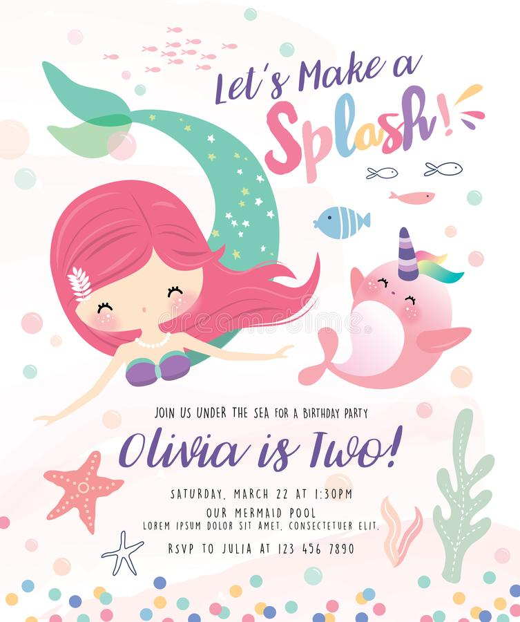 Kids under the sea birthday party invitation card stock vector download kids under the sea birthday party invitation card stock vector illustration of design stopboris Image collections