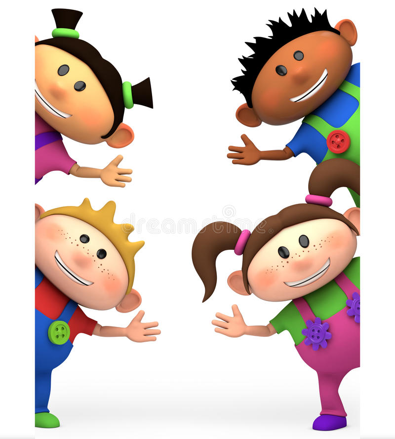 Download Kids waving stock illustration. Illustration of boys - 24908976