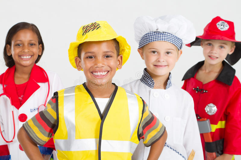 Kids Workers Stock Image