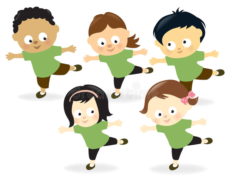 Kids Working Out Stock Images