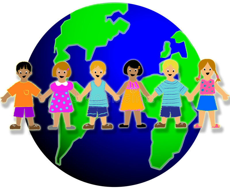 Kids of the World stock illustration