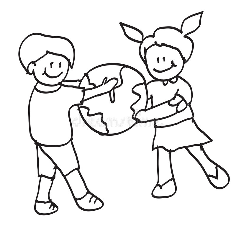 Kids world royalty free illustration