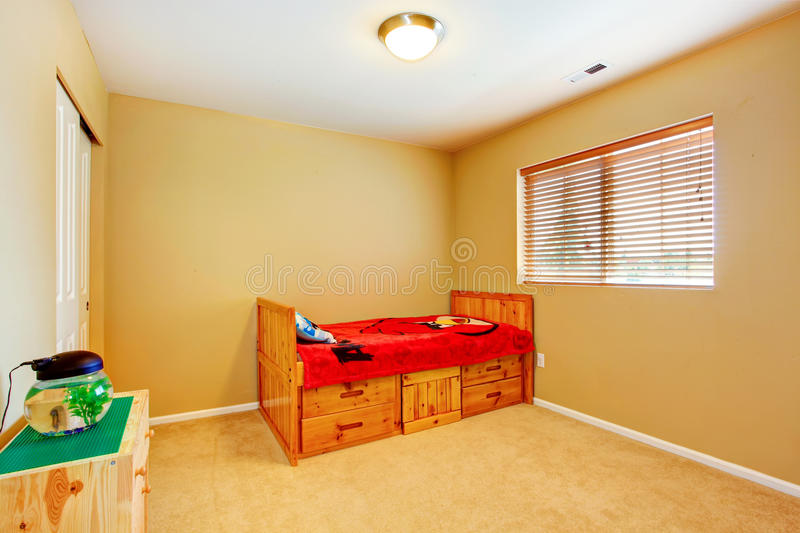 Download Kidss room with wooden bed stock image. Image of photo - 43461287