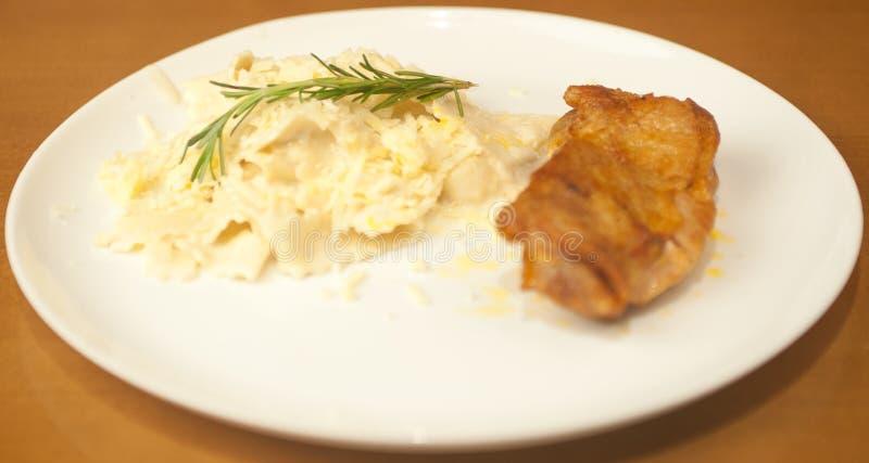 Kiełbasianego Chlebowego Obiadowego szefa kuchni Włoska restauracja, wyśmienity gość restauracji, specjalny weekend dezerteruje obrazy royalty free