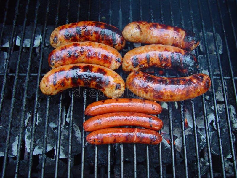 kiełbasa grill zdjęcia royalty free