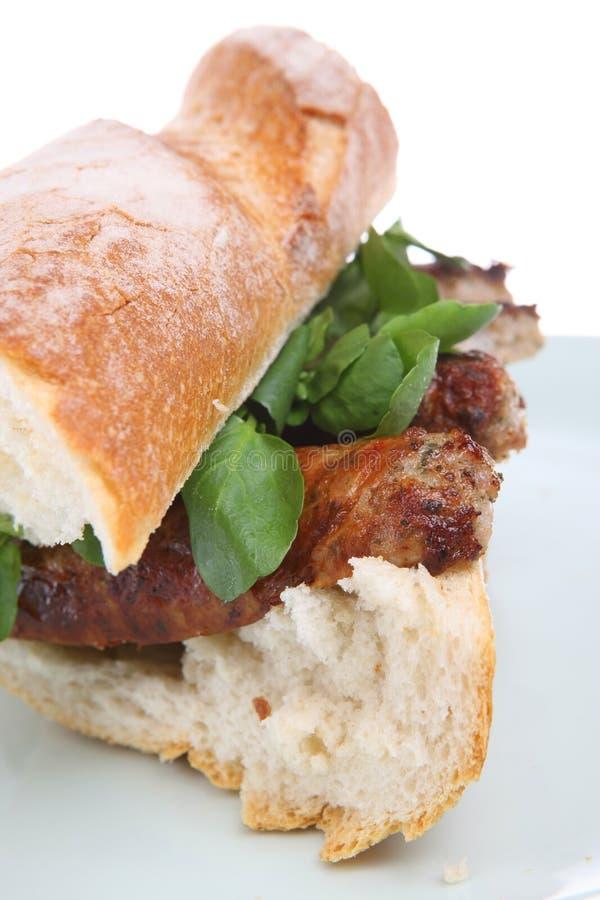 kiełbasa kanapek zdjęcie stock
