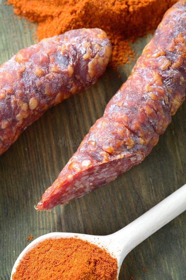 kiełbasa smakowita chili obraz royalty free