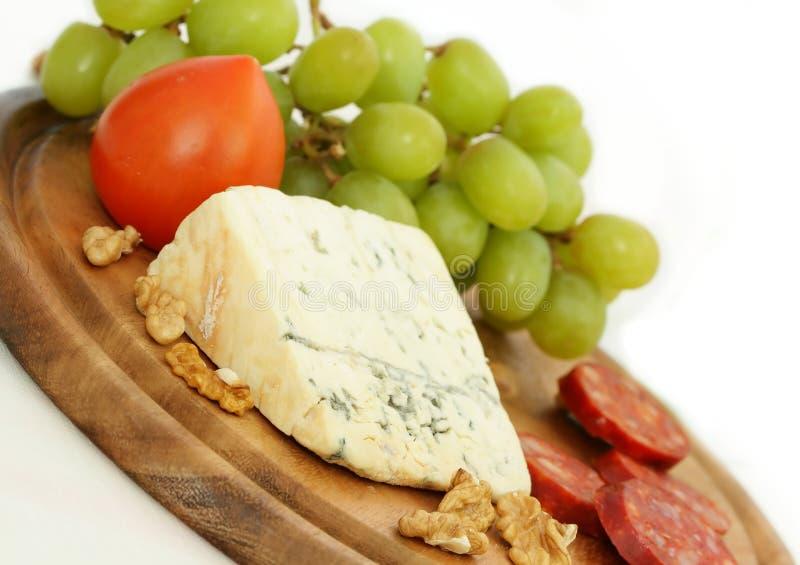 kiełbasa winogron z serem fotografia stock