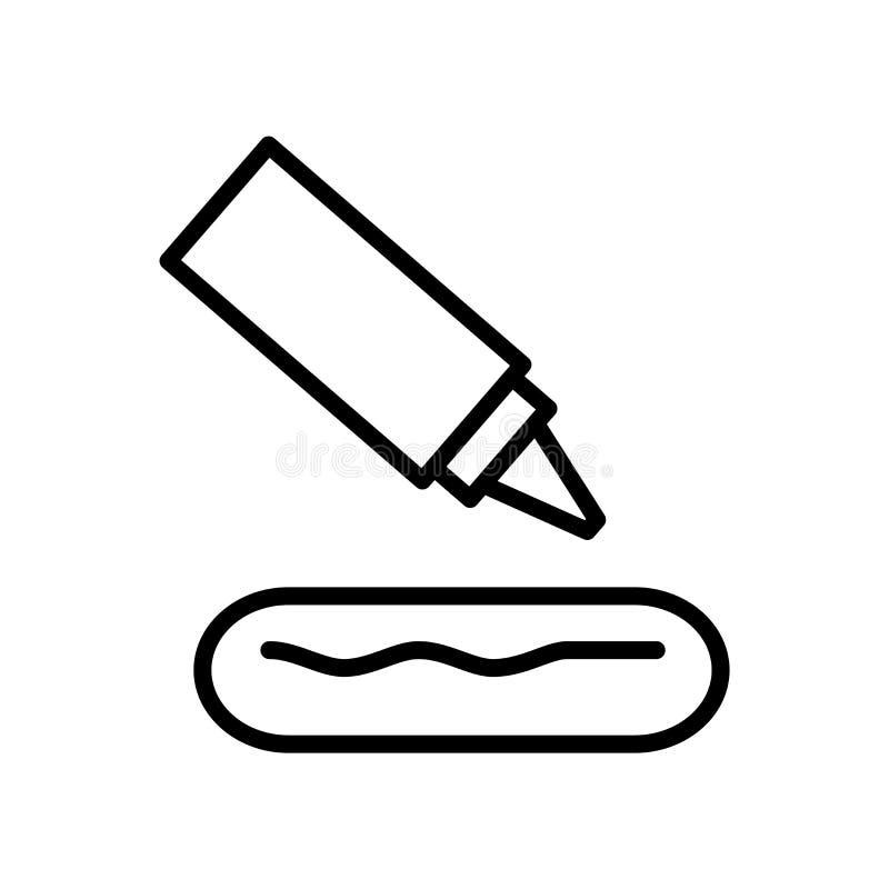 Kiełbasy ikony wektor odizolowywający na białym tle, kiełbasy podpisuje, linia lub liniowy znak, elementu projekt w konturu stylu ilustracji