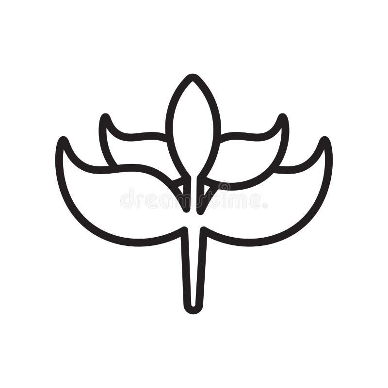 Kiełkowy ikona wektoru znak i symbol odizolowywający na białym tle, Kiełkowy logo pojęcie, konturu symbol, liniowy znak, kontur ilustracja wektor