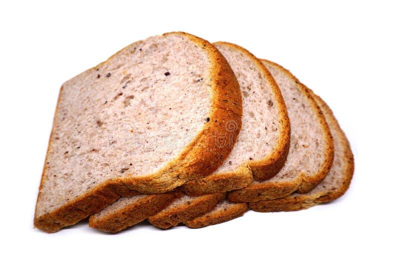 Kiełkujący brown ryż chleb fotografia stock