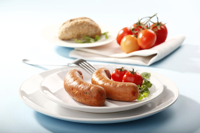 Download Kiełbasa obraz stock. Obraz złożonej z chleb, pieprz - 13327795