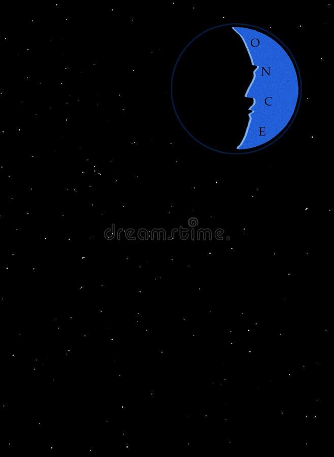 kiedyś blue moon royalty ilustracja