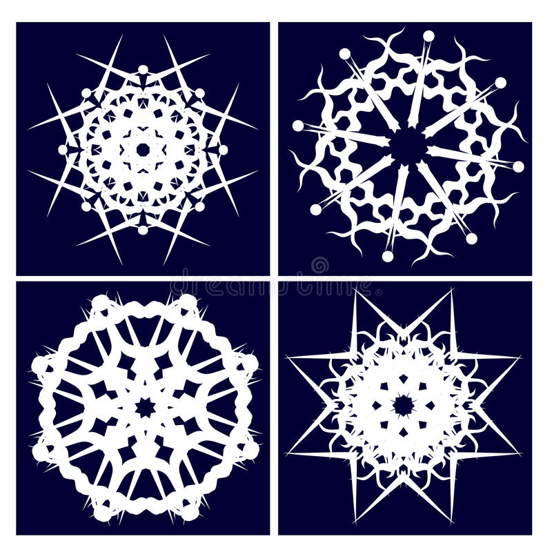 kiedy było tła cztery ilustracyjnego użyć Śniegu zdjęcie royalty free