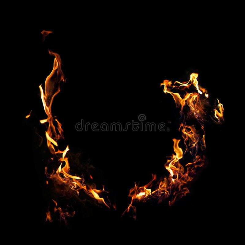 kiedy tło płomienie odizolowanego wspaniale zdjęcia stock