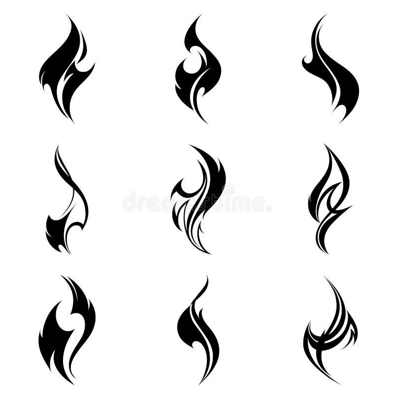 kiedy tło płomienie odizolowanego wspaniale kolaż ilustracji