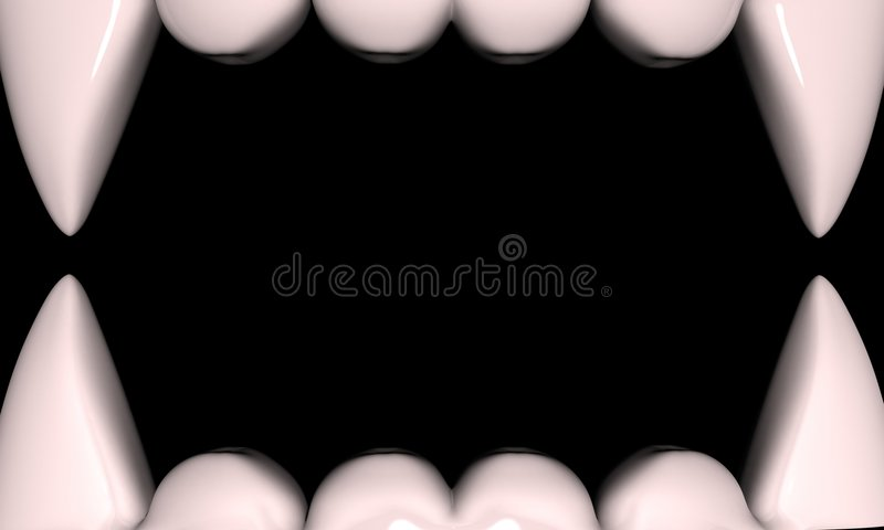 Kiefer des Vampirs stock abbildung