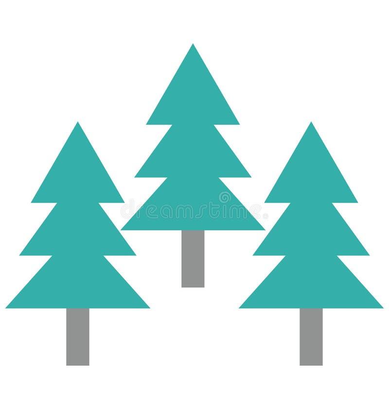 Kiefer, Immergrün lokalisierte Vektor-Ikonen kann sein ändern mit jeder möglicher Art lizenzfreie abbildung