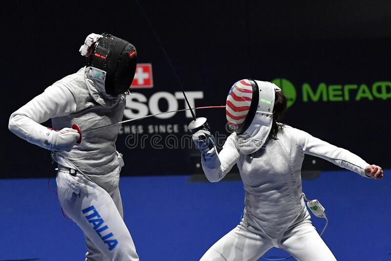 Sword FIE Fencing Grand Prix 2020 - Inalpi Trophy royalty free stock photography