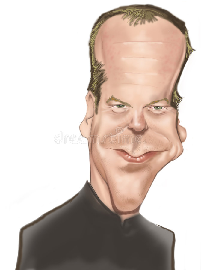 Kiefer Sutherland royalty free illustration