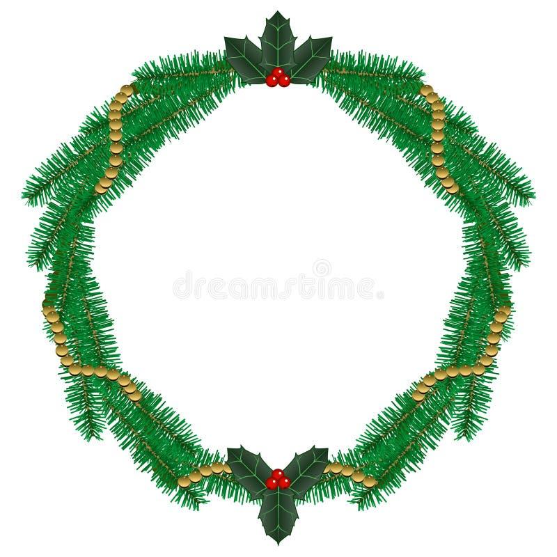 Kiefer Wreath stock abbildung
