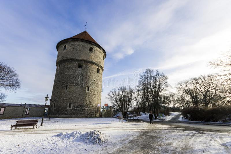 Kiek nella torre di de Kok, Tallinn, Estonia fotografie stock