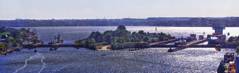 Kiel Canal Entrance stock fotografie