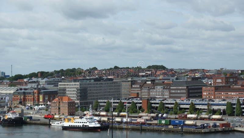 Kiel City - Haven - Duitsland - Europa stock afbeeldingen