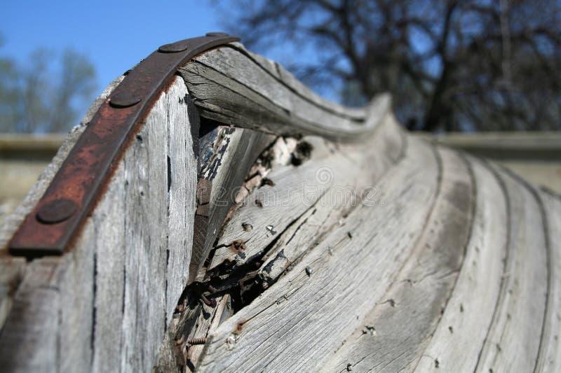 Kiel des alten Bootes stockfotografie