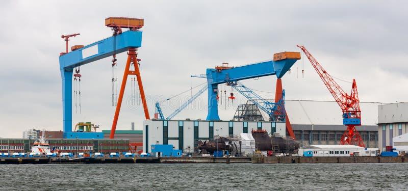 Kiel Harbour, Germania del nord fotografie stock