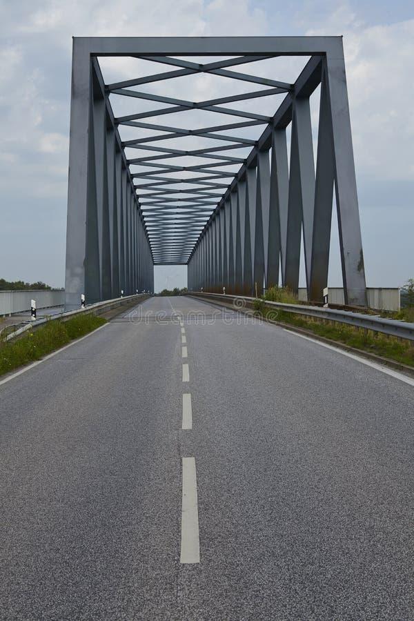 Kiel kanał - Gruenental most przy Beldorf obraz royalty free