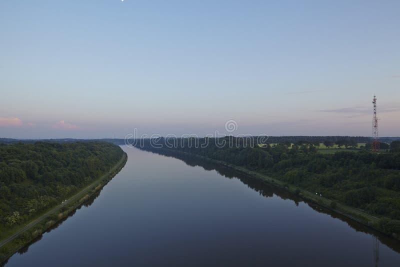Kiel kanał - Gruenental most przy Beldorf fotografia stock