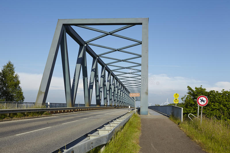 Kiel kanał - Gruenental most przy Beldorf zdjęcie royalty free
