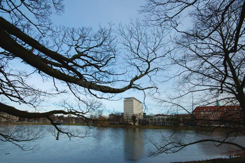 Kiel no inverno foto de stock royalty free