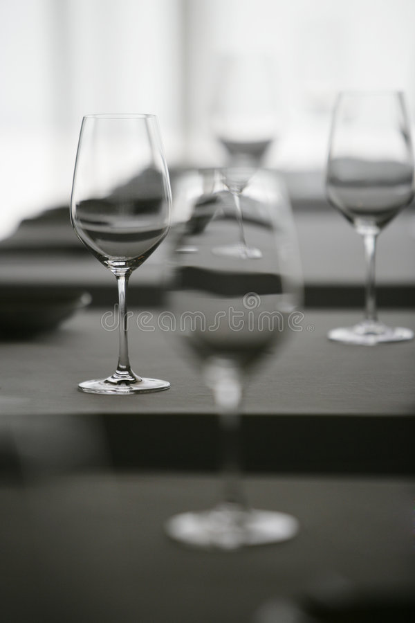 kieliszek wina restauracji zdjęcie stock