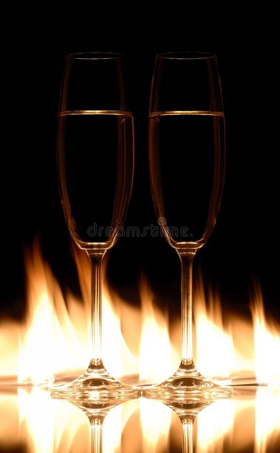 kieliszki szampana obraz stock