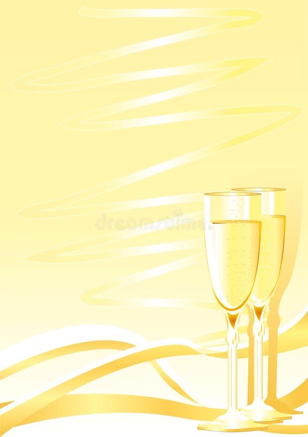 kieliszki szampana royalty ilustracja