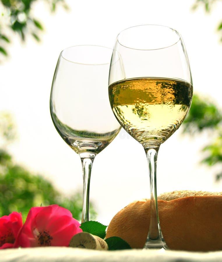 kieliszki wina obraz royalty free