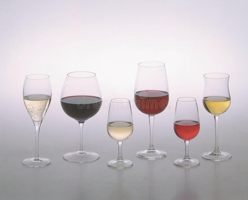 kieliszki wina obrazy stock