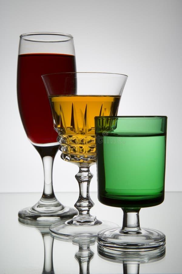kieliszki wina obraz stock