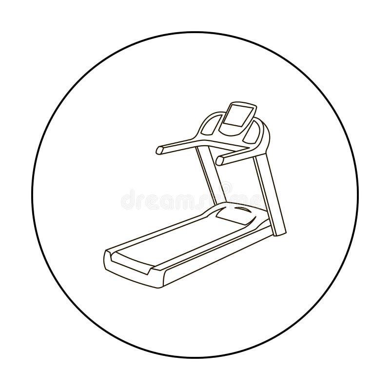Kieratowy ikona kontur Pojedyncza sport ikona od dużej sprawności fizycznej, zdrowej, treningu kontur ilustracja wektor