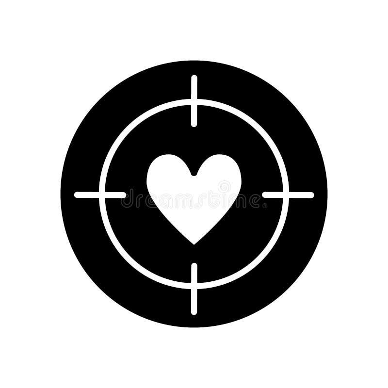 Kierowa cel linii ikona, sta?y wektoru znak, liniowy stylowy piktogram odizolowywaj?cy na bielu Cel z kierowym symbolem, logo royalty ilustracja