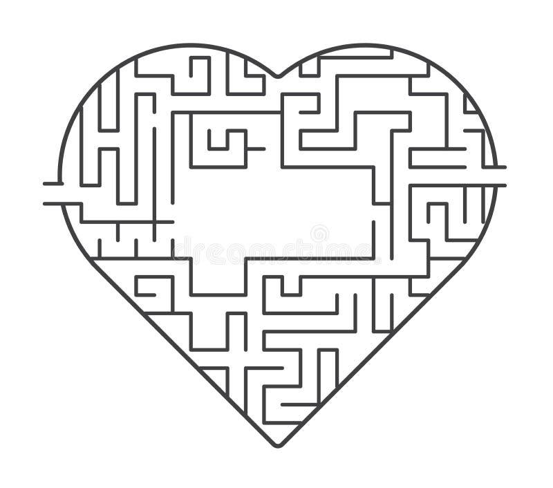Kierowa labirynt ilustracja znalezisko z miłości pojęcia Wektoru zapas ilustracji