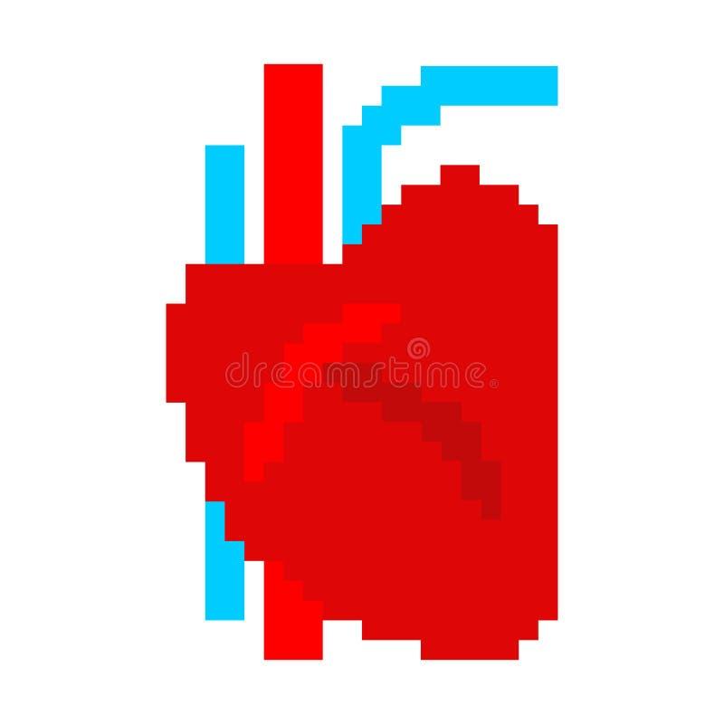 Kierowa ludzka piksel sztuka Organ mężczyzna 8 kawałek również zwrócić corel ilustracji wektora royalty ilustracja