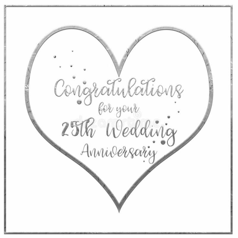 Kierowa Srebna Ślubnej rocznicy karta zdjęcie royalty free