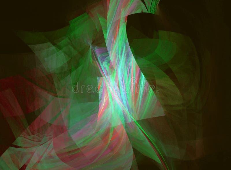 Kierowany komputerowo fractal wizerunek z abstrakcją obraz stock