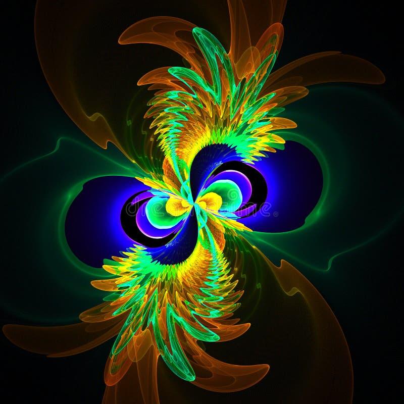 Kierowany komputerowo fractal wizerunek z kwiatem obraz stock